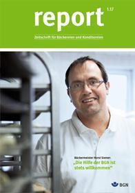 Der Titel der Zeitschrift Report 1/2017 für Backbetriebe