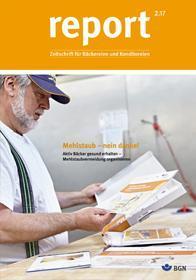 Der Titel der Zeitschrift Report 2/2017 für Backbetriebe