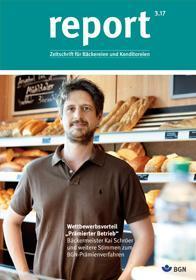 Der Titel der Zeitschrift Report 3/2017 für Backbetriebe