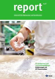 Der Titel der Zeitschrift Report 4/2017 für Backbetriebe