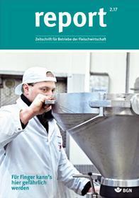 Der Titel der Zeitschrift Report 2/2017 für Fleischwirtschaft