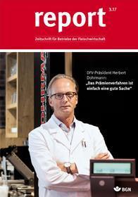 Der Titel der Zeitschrift Report 3/2017 für Fleischwirtschaft