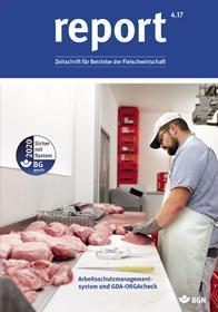 Der Titel der Zeitschrift Report 4/2017 für Fleischwirtschaft