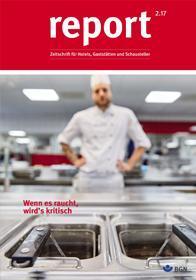 Der Titel der Zeitschrift Report 2/2017 für Hotels, Gaststätten