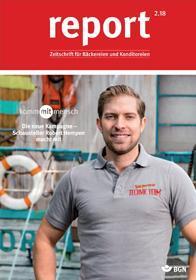 Der Titel der Zeitschrift Report 2/2018 für Bäckereien
