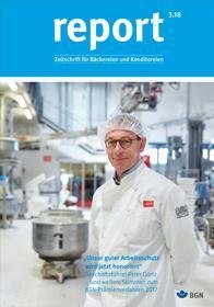 Der Titel der Zeitschrift Report 3/2018 für Bäckereien