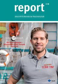 Der Titel der Zeitschrift Report 2/2018 für Fleischwirtschaft