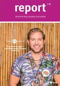 Der Titel der Zeitschrift Report 2/2018 für Gaststätten