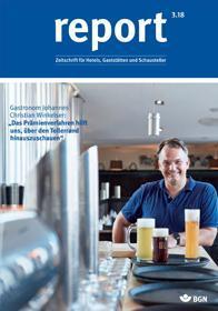 Der Titel der Zeitschrift Report 3/2018 für Gaststätten