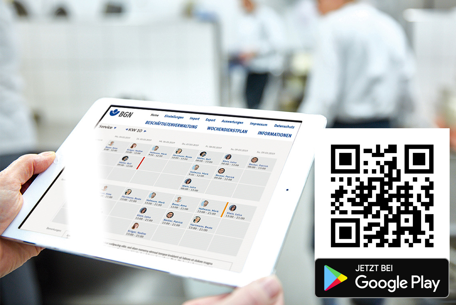 BGN-Dienstplan-APP für Android
