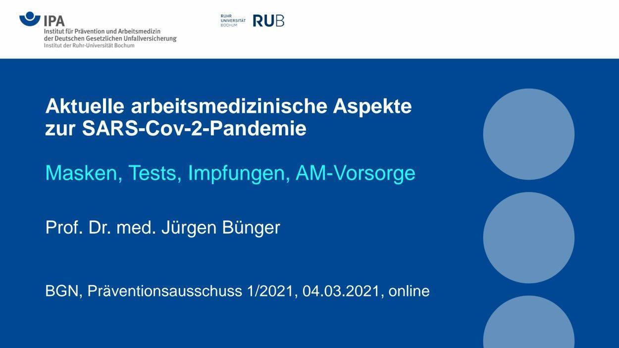 Titel Präsentation Online-Branchentagung Bünger